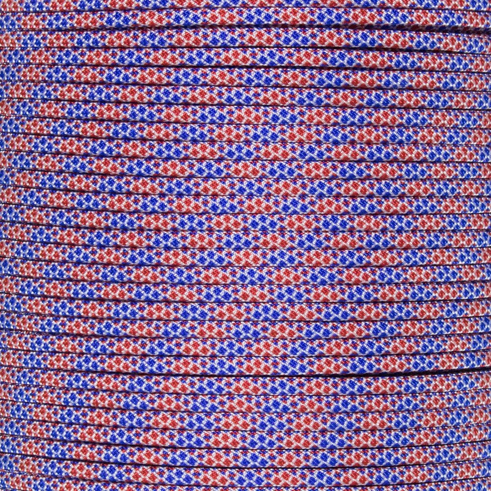 PARACORD PLANET 550 Paracord Variety of Patriotic Colors Length of 100 Feet