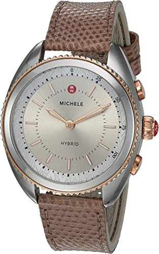Amazon.com: MICHELE - Reloj de pulsera híbrido de acero ...