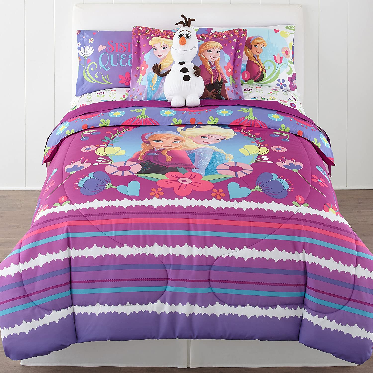 Disney Frozen Nordic Summer Reversible Twin/Full Comforter Bonus Sham Collection