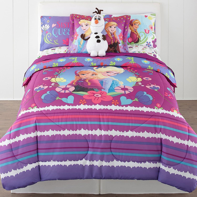 Disney Frozen Nordic Summer Reversible Twin/Full Comforter Bonus Sham Collection
