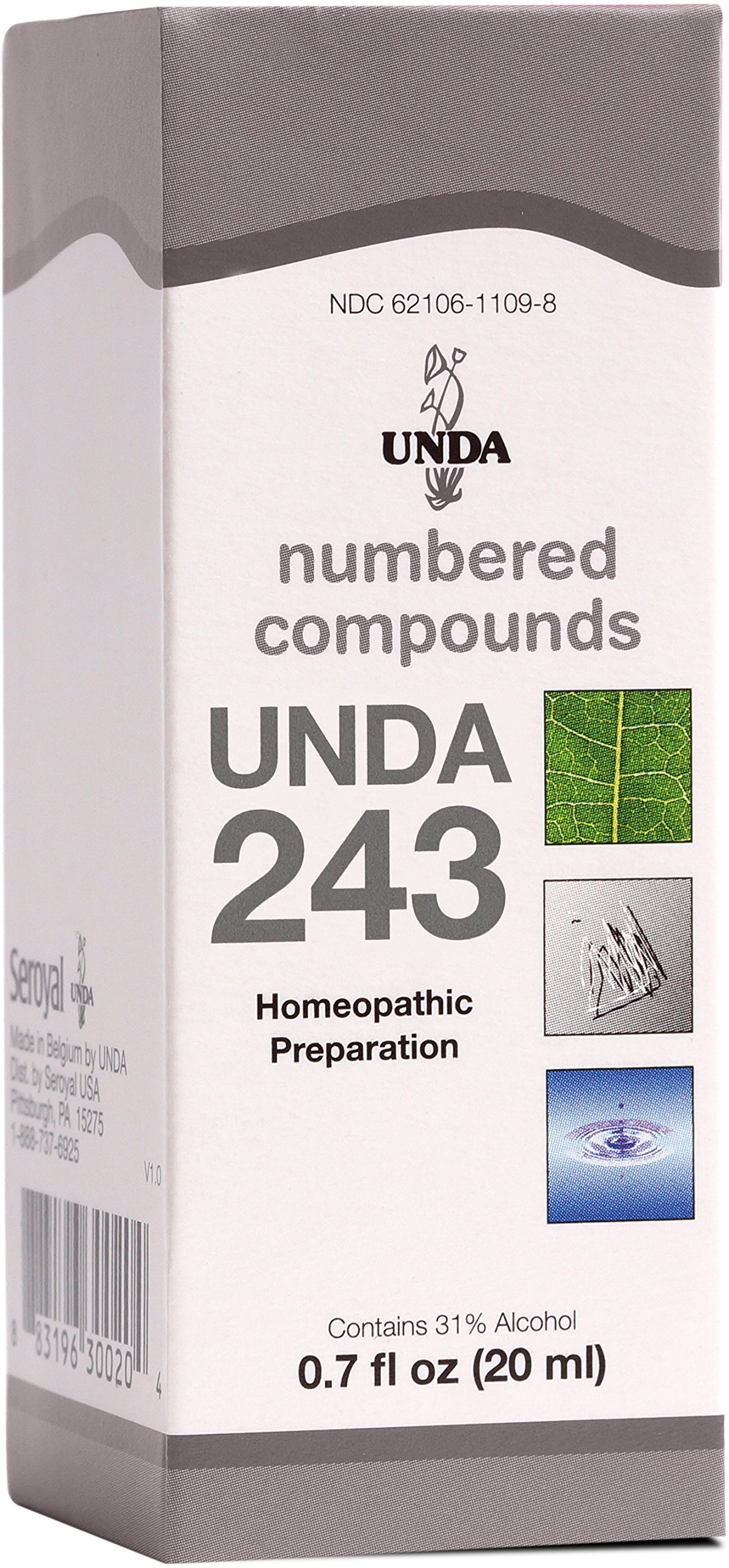 UNDA - UNDA 243 Numbered Compounds - Homeopathic Preparation - 0.7 fl oz (20 ml) by UNDA