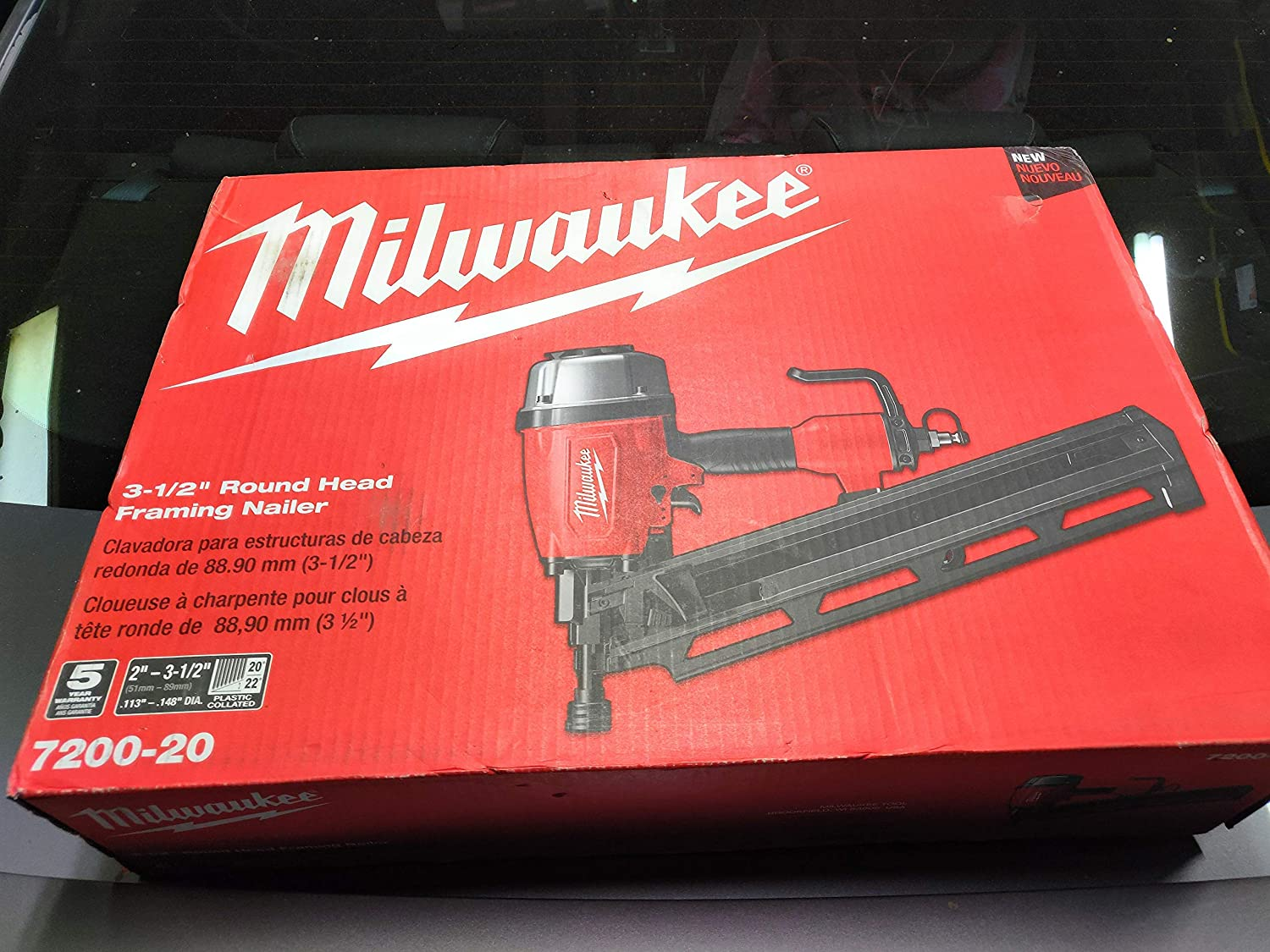 Image of Milwaukee Pneumatic 3-1/2 in. 21 Degree Full Round Head Framing Nailer Home Improvements