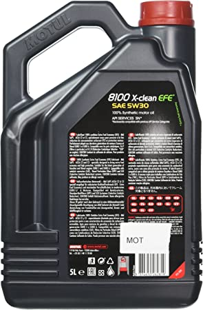 Motul 107206 74 Motor Schmieröl 8100 X Clean Efe C2 C3 5w30 5l Auto