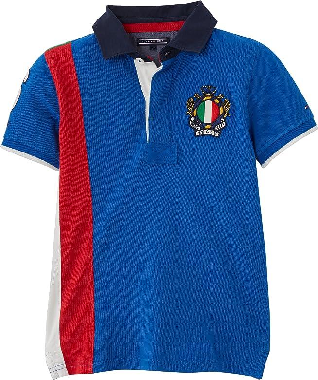 Tommy Hilfiger Italy Polo, Niños, Azul (Turkish Sea) 8 años (128 ...