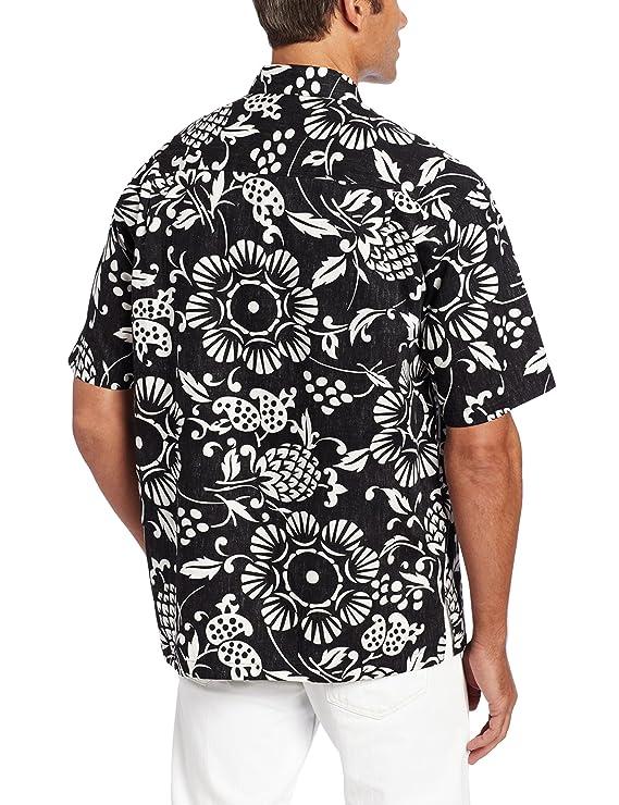 1c7a92a3 Kahala Men's Dukes Pareo Full Button Front Shirt at Amazon Men's Clothing  store: Button Down Shirts