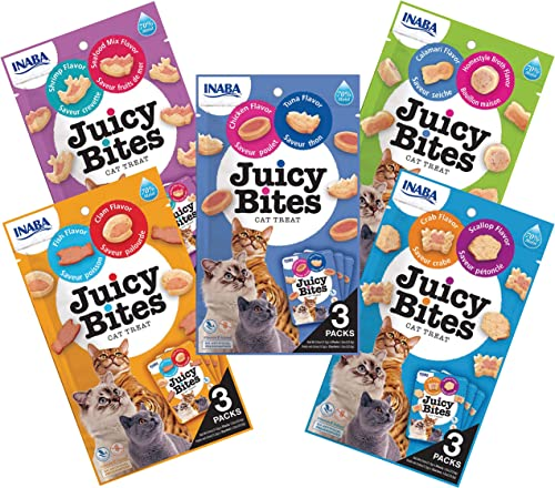 INABA Juicy Bites Moist bite-Sized cat Treats – Human-Grade, No Grains