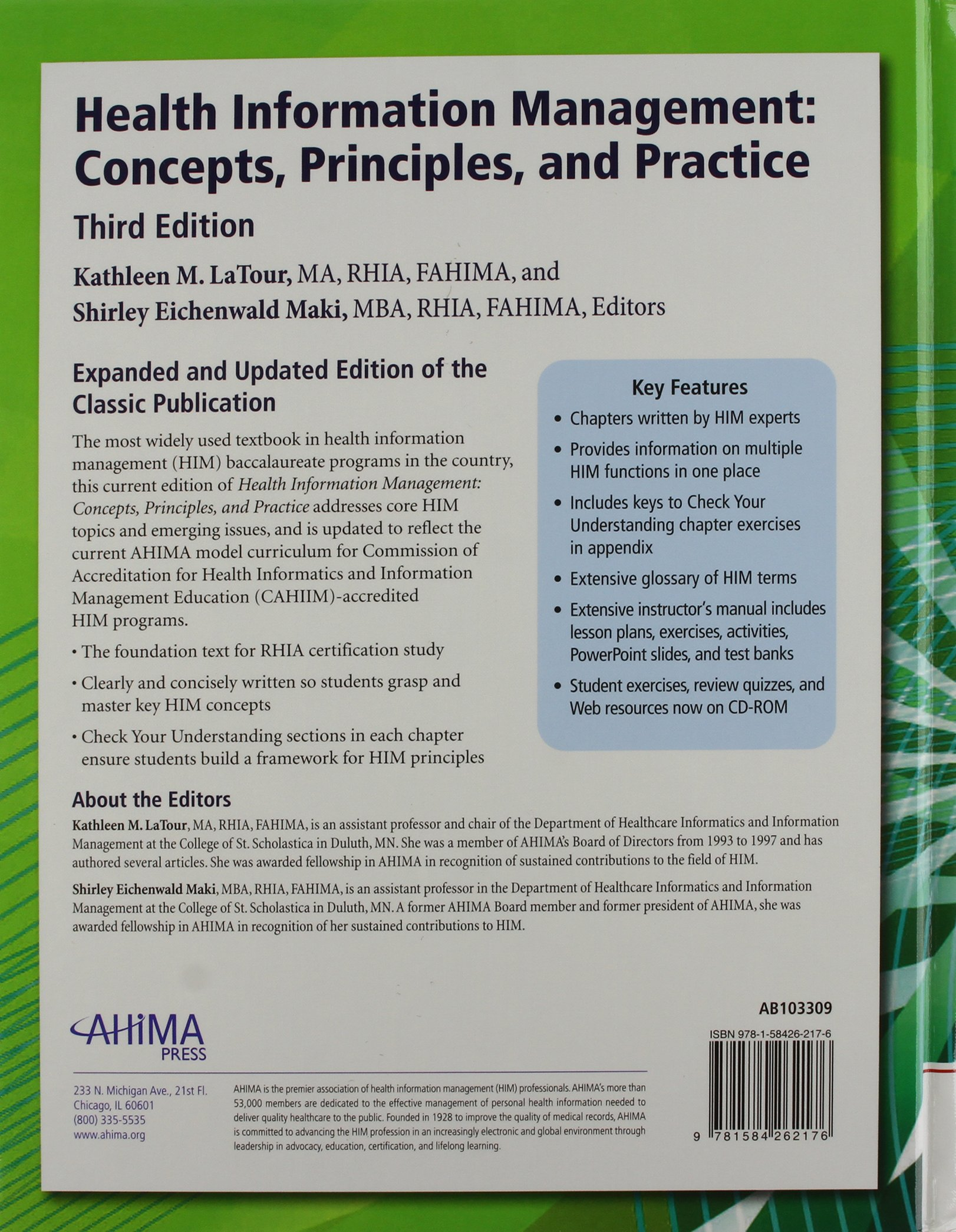 Health information management concepts principles and practice health information management concepts principles and practice wwkbk latour 9781584262176 health policy amazon canada xflitez Choice Image