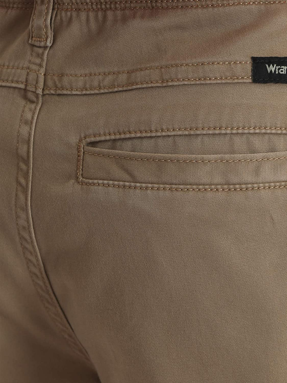 Wrangler Boys Performance Series Multipocket Cargo Shorts with Comfort Flex Waistband Original Khaki, 4 Regular