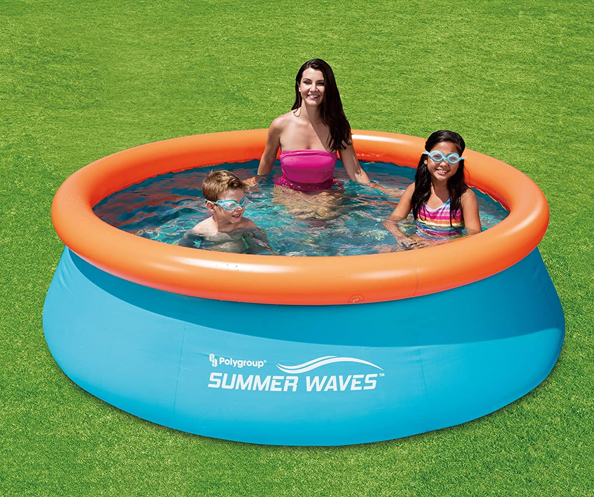 """Summer Waves 10x30"""" 3D Quick Set Pool with 2 Pairs of 3D Goggles"""