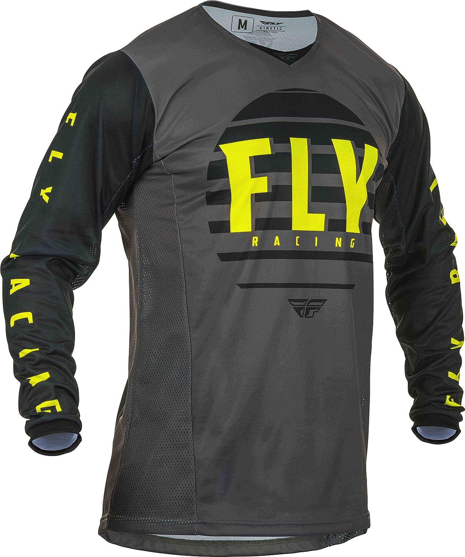 Jerseys Fly Racing 2020 Kinetic K220 Black/Grey/Hi-Vis Adult MX ...