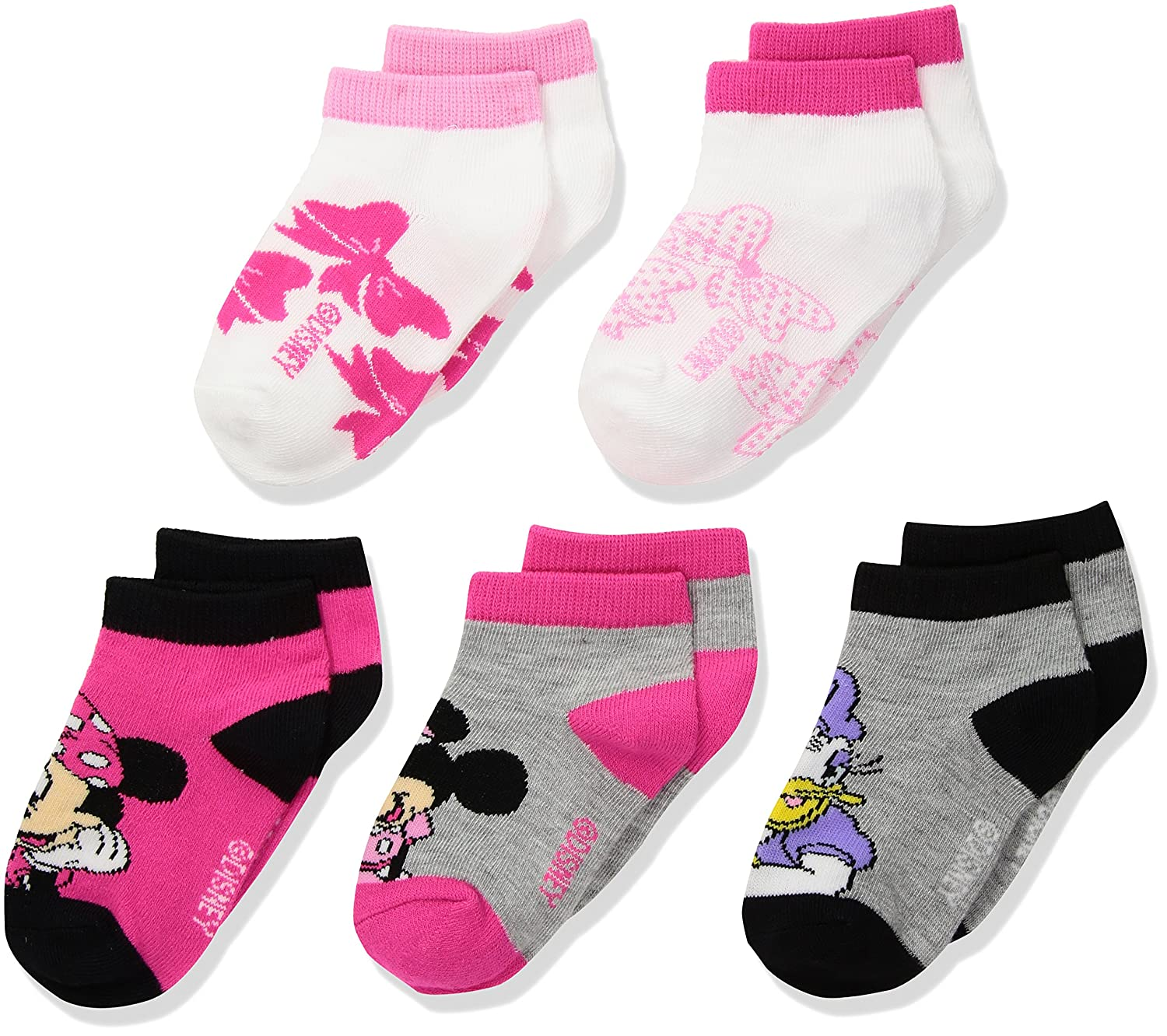 Disney Minnie Mouse 5 Pack No Show Socks