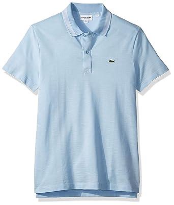 79d03839 Lacoste Men's S/S Slubbed Pique Regular Fit Printed Polo