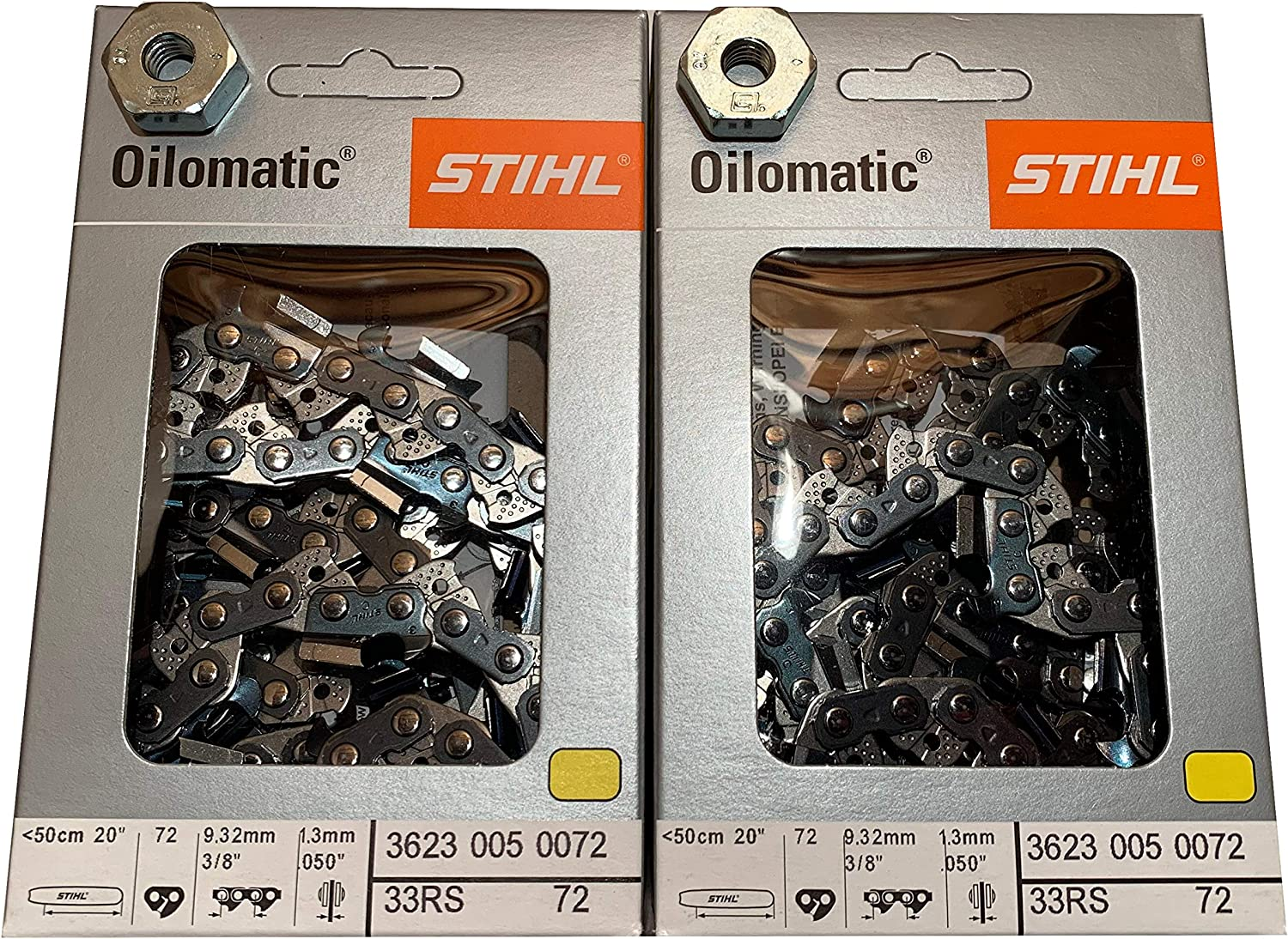 """20/"""" Chainsaw Bar and Chain fits Stihl Saws  3//8 x 050 x 72 drive links"""