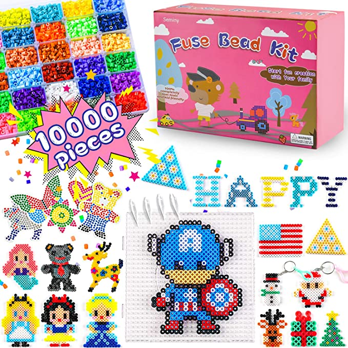 5mm Making Jewelry Bright Basics Mix Homemade Decorations and Other Crafty Ideas Set of 6000 Pieces for DIY Crafts with Kids Vaessen Creative Fuse Beads