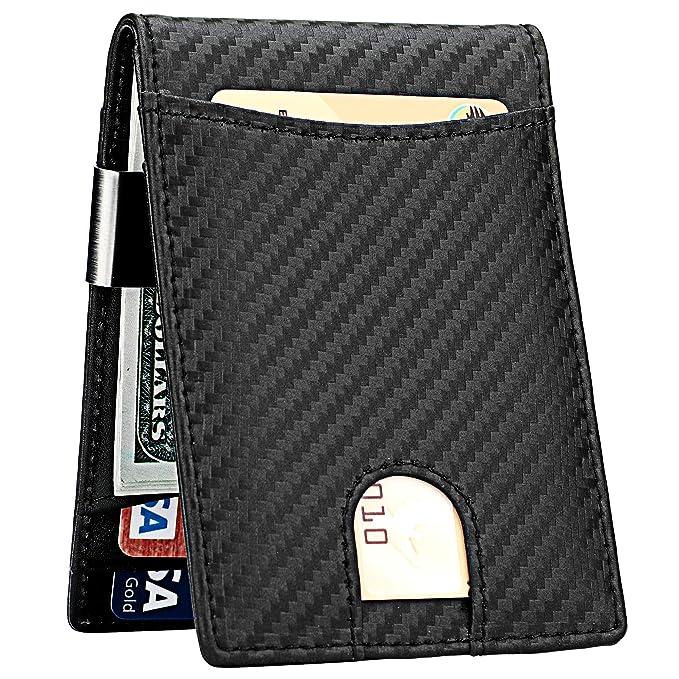 e75711f340602f Lavemi Money Clip Wallet for Men Slim Front Pocket RFID Blocking Card Holder  Minimalist Bifold Wallet