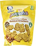 Gerber Graduates Animal Crackers Pouch, Cinnamon Graham, 6 Ounce