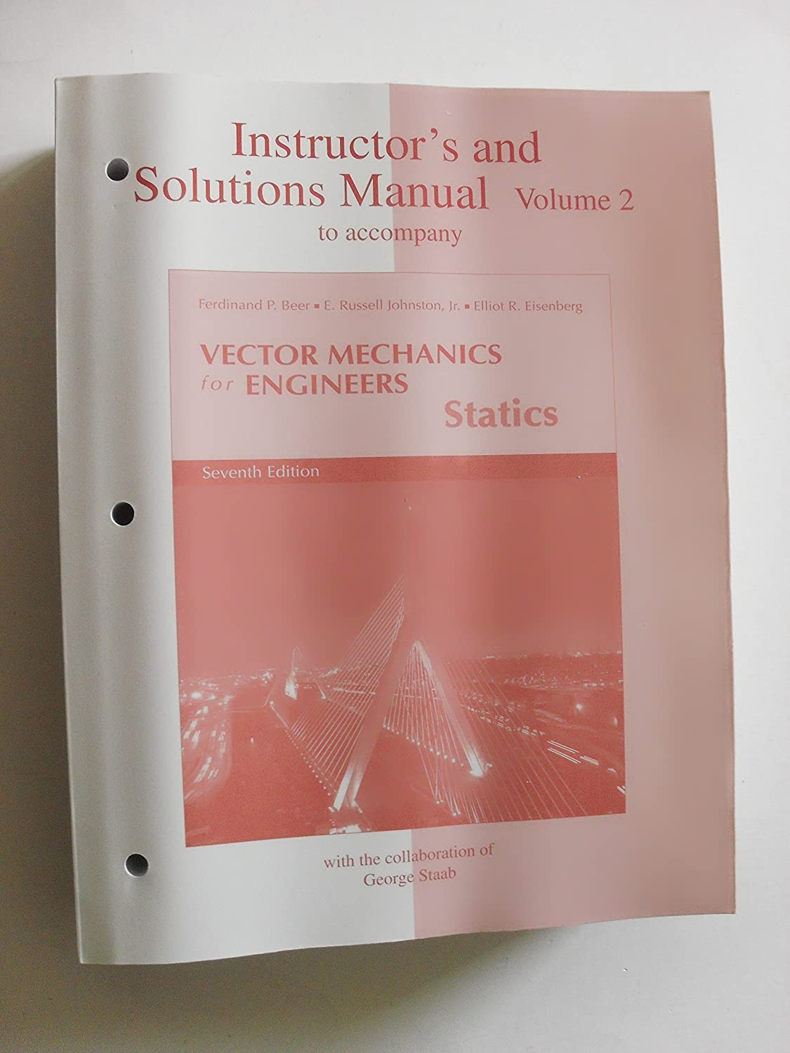 Amazon.com : Instructor's and Solutions Manual to Accompany Vector Mechanics  for Engineers Statics 7th edition Vol.2( paperback) : Everything Else
