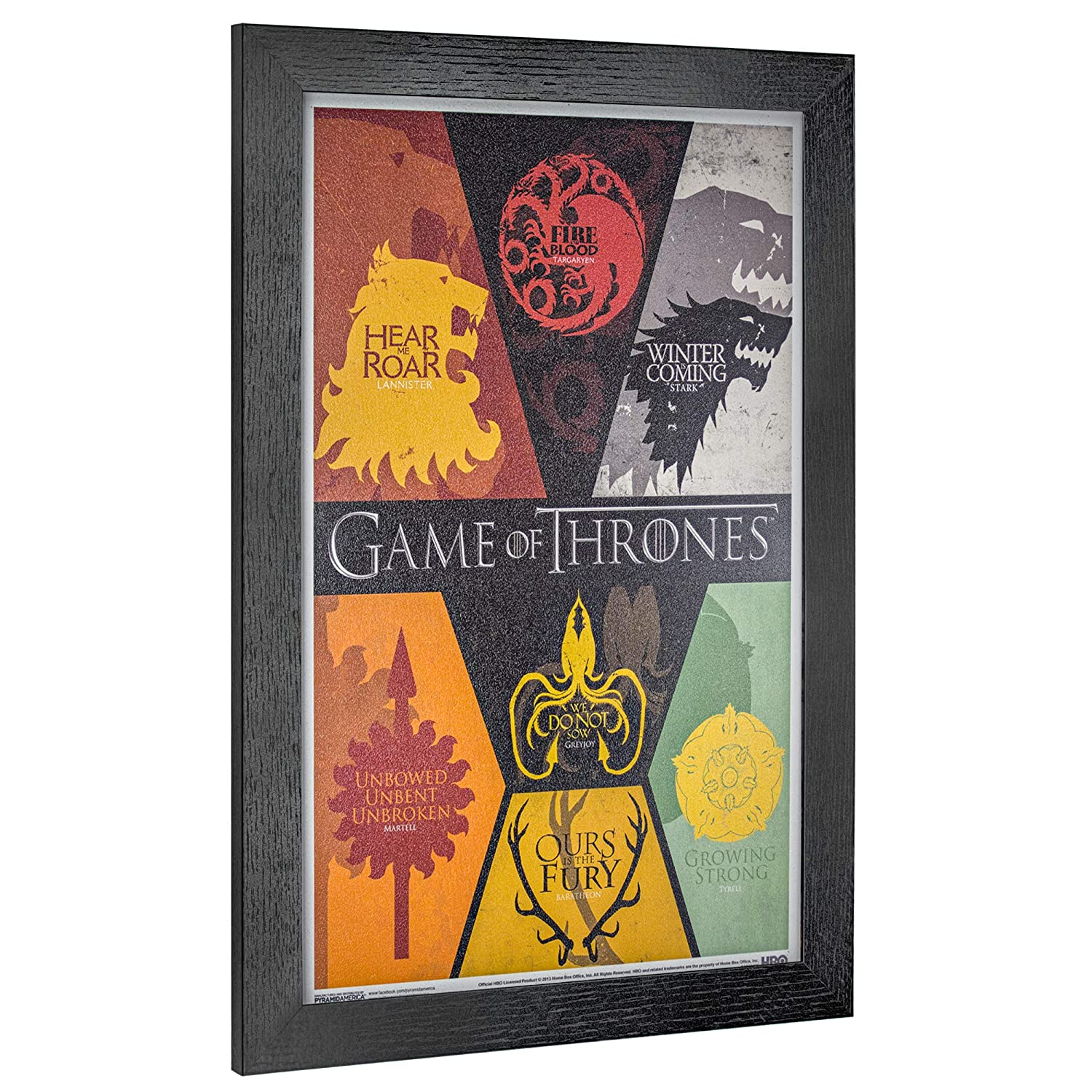 "Crystal Art Licensed Game of Thrones Siglis Framed Wall Art 19/"" H x 13/"" L Multicolored"