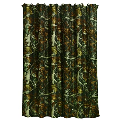 1 Piece 72quot X Green Camo Shower Curtain Brown Mossy Oak Camouflage