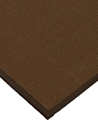 NaturalAreaRugs Linden Collection Sisal Area Rug, Handmade in USA, 100 Sisal, Non-Slip Latex Backing, Durable, Stain Resistant, Eco Environment-Friendly, 8 Feet x 10 Feet Brown Border