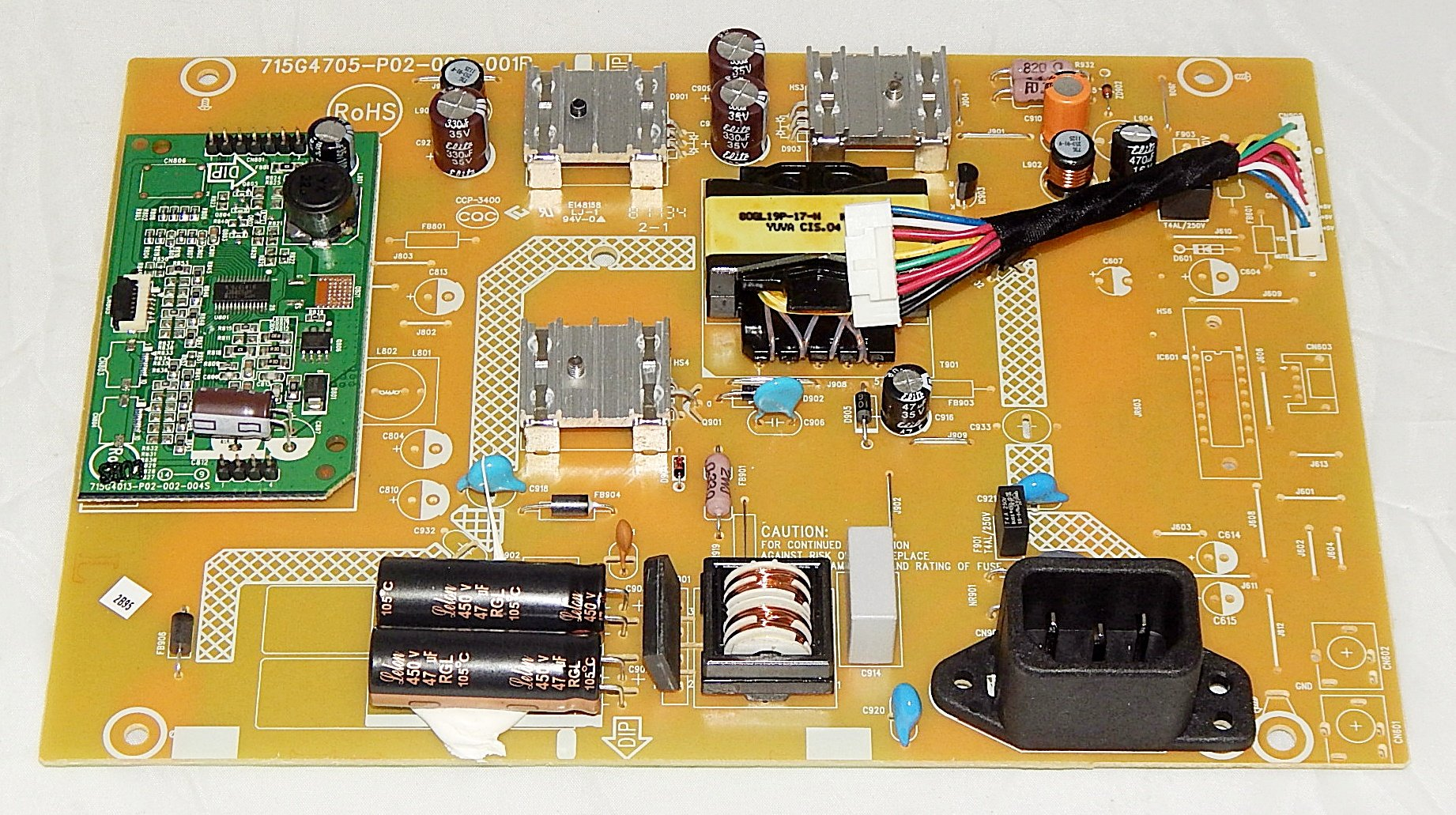 ASUS 04G550434050 (715G4705-P02-000-001R) VS228H VS228H-P Monitor PCB Power Board