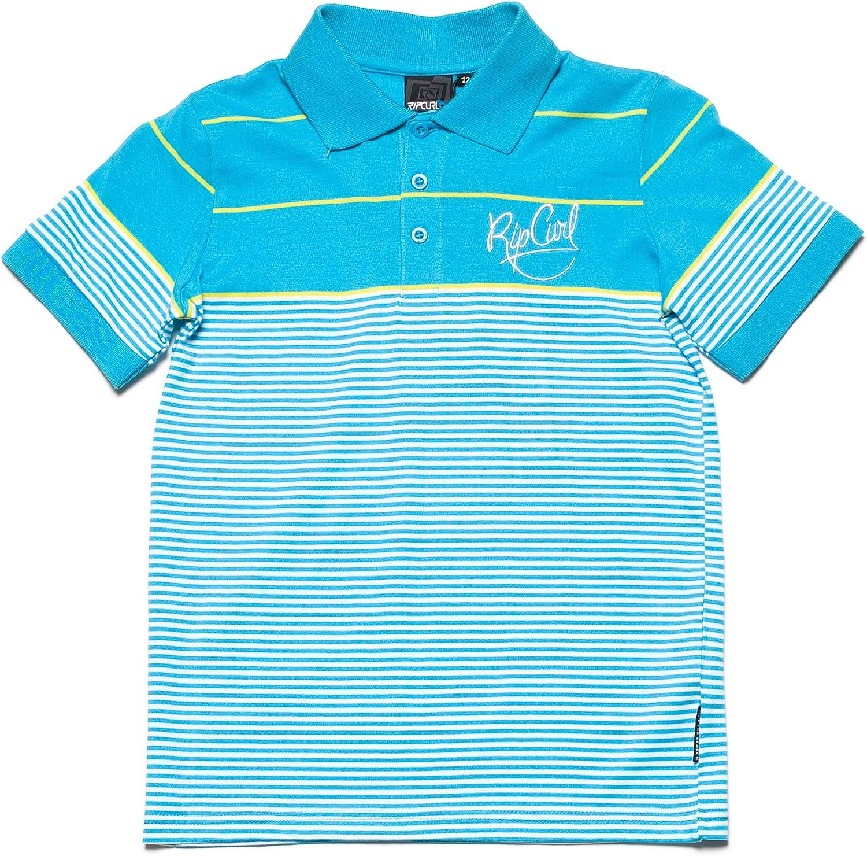 RIP CURL Paralleloid - Polo para Hombre, tamaño 128, Color Azul ...