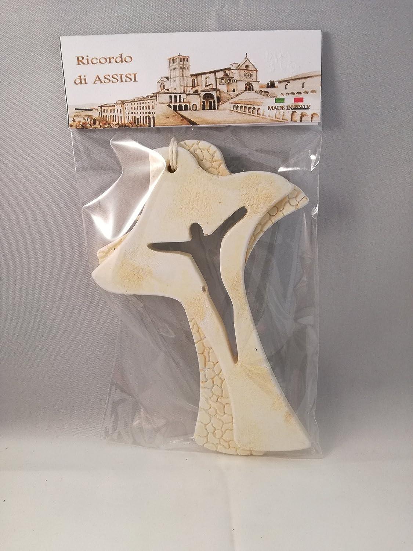 Bomboniera Comunione Cresima Croce Colomba stile moderno in marmo Ricordo di Assisi Morani