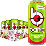 BANG Caffeine Free Energy Drink, 0 Calories, Sugar Free with Super Creatine, 16 Fl Oz (Pack of 12) Candy Apple Crisp 192 Ounc