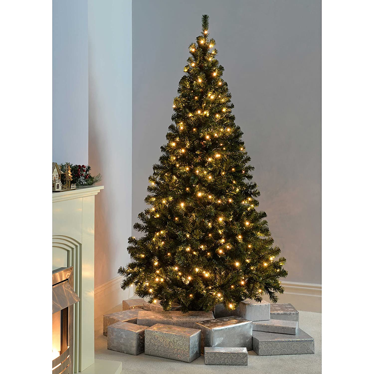 Werchristmas Prelit Spruce Multifunction Christmas Tree, 21 M  7 Feet  With 300led Lights, Green: Amazon: Kitchen & Home
