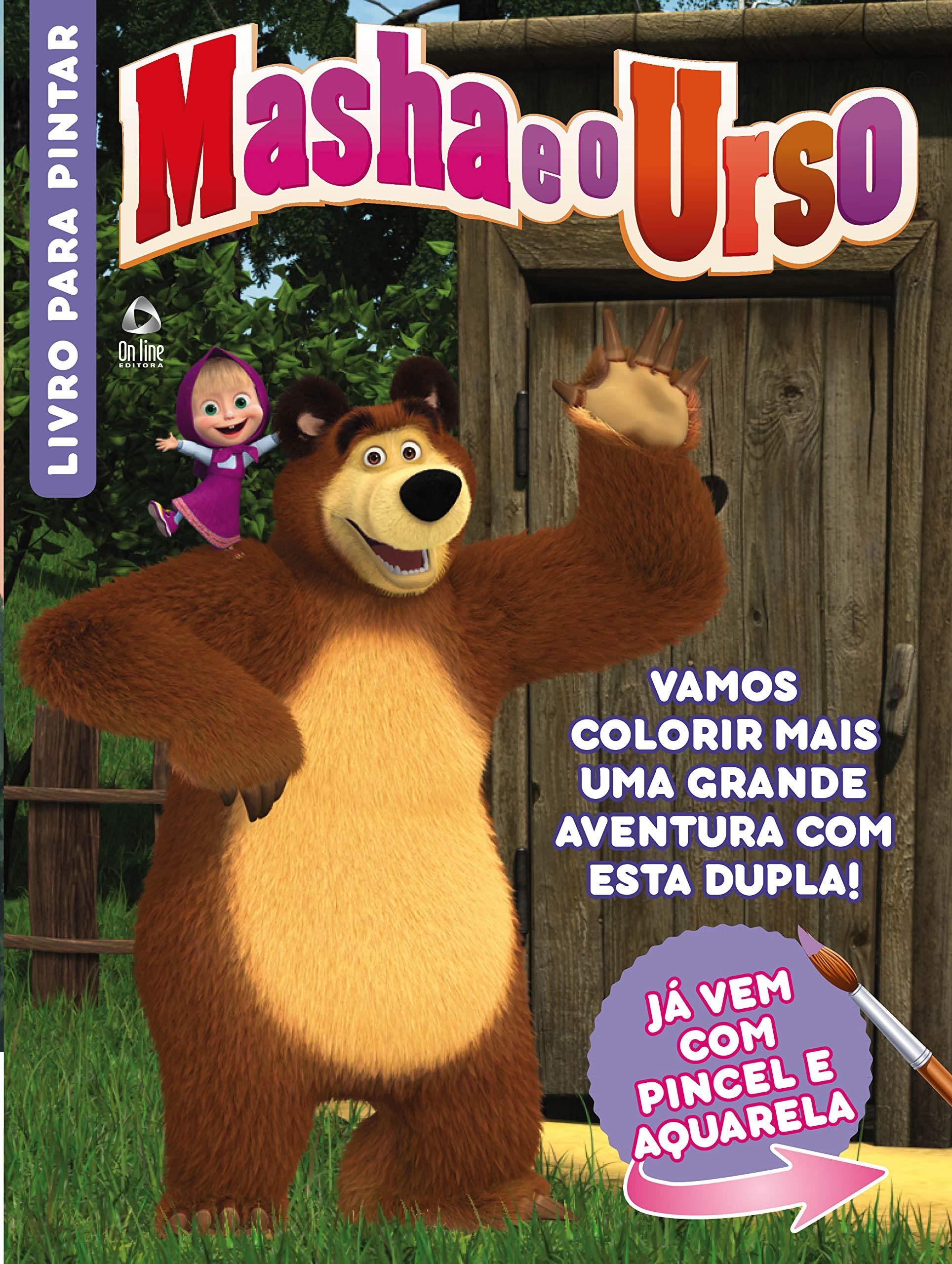 Aquarela Para Colorir Masha E O Urso Varios Autores