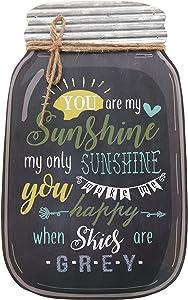 "Barnyard Designs You are My Sunshine Mason Jar Wall Decor Sign, Vintage Primitive Country Decor 14.25"" x 8.5"""