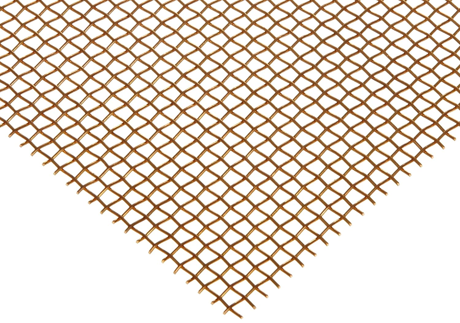 46/% Open Area Bronze Woven Mesh Sheet Mill 0.016 Wire Diameter Unpolished Finish 12 Width ASTM E2016-06 24 Length