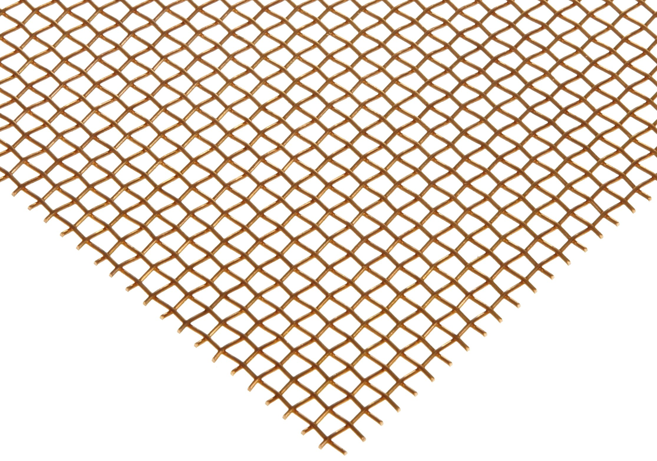 Bronze Woven Mesh Sheet, Unpolished (Mill) Finish, ASTM E2016-06, 12'' Width, 12'' Length, 0.0045'' Wire Diameter, 30% Open Area by Small Parts
