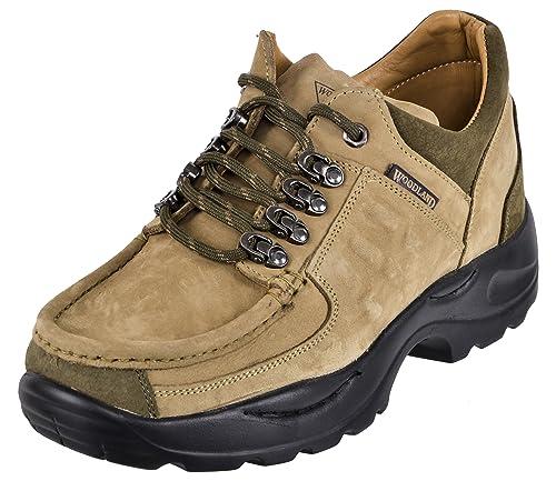 Buy Woodland Men's Beige Leather Low