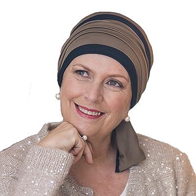 Élégant foulard Hélène réversible noir et marron sans coutures visibles