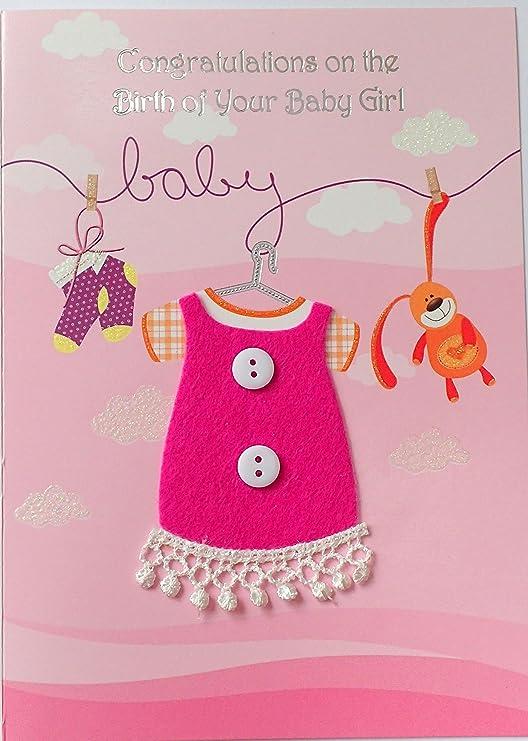 Nuevo bebé tarjeta de felicitaciones por el nacimiento de tu bebé ...