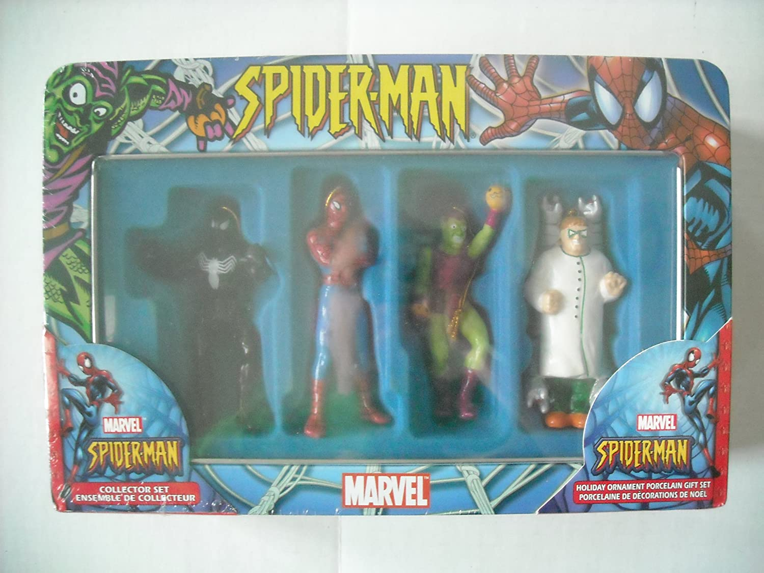 6pc NEW Custom MARVEL Disney Ultimate Spiderman Ornament Set FANTASTIC
