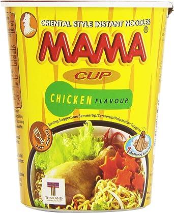 Mama - Cup Chicken Flavour - Fideos orientales sabor a pollo - 70 ...
