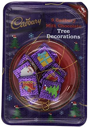 Cadbury Milk Chocolate Christmas Tree Decoration (9 Units, Pack Of 6)