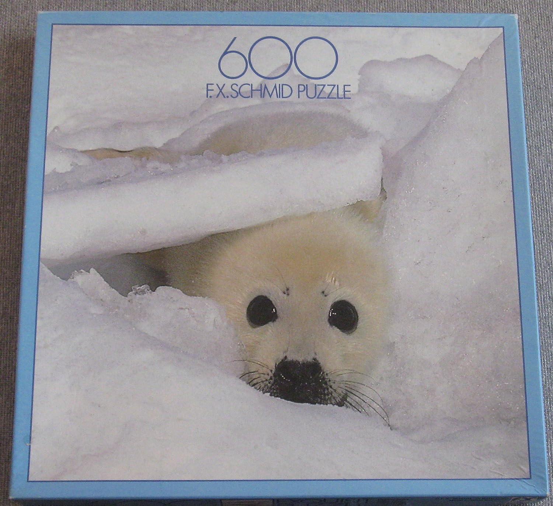 Schmid 600 Piece Jigsaw Puzzle X Schmid F.X Baby Seal F