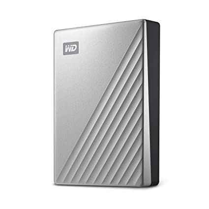 Western Digital 4TB My Passport Ultra Silver Portable External Hard Drive,  USB-C - WDBFTM0040BSL-WESN