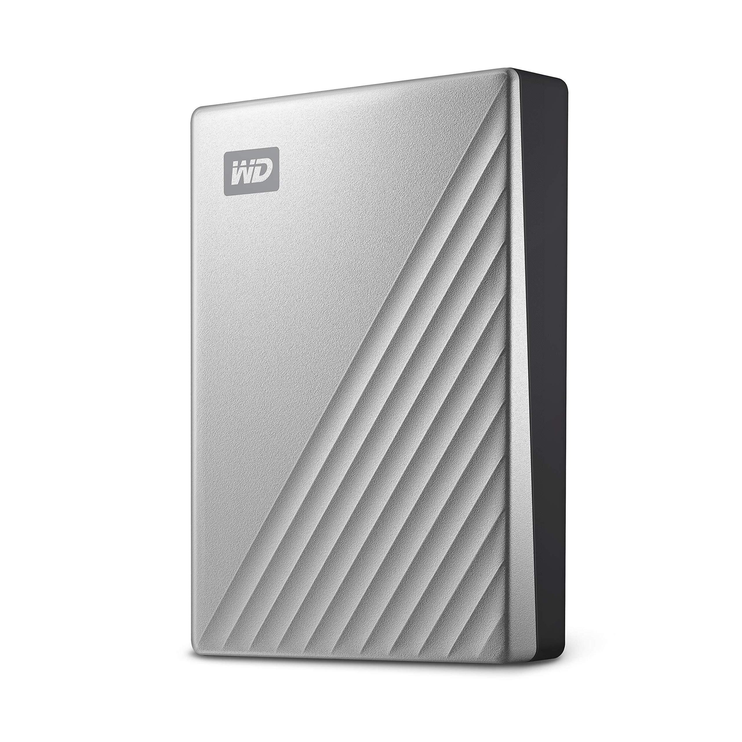 Western Digital 4TB My Passport Ultra Silver Portable External Hard Drive, USB-C - WDBFTM0040BSL-WESN
