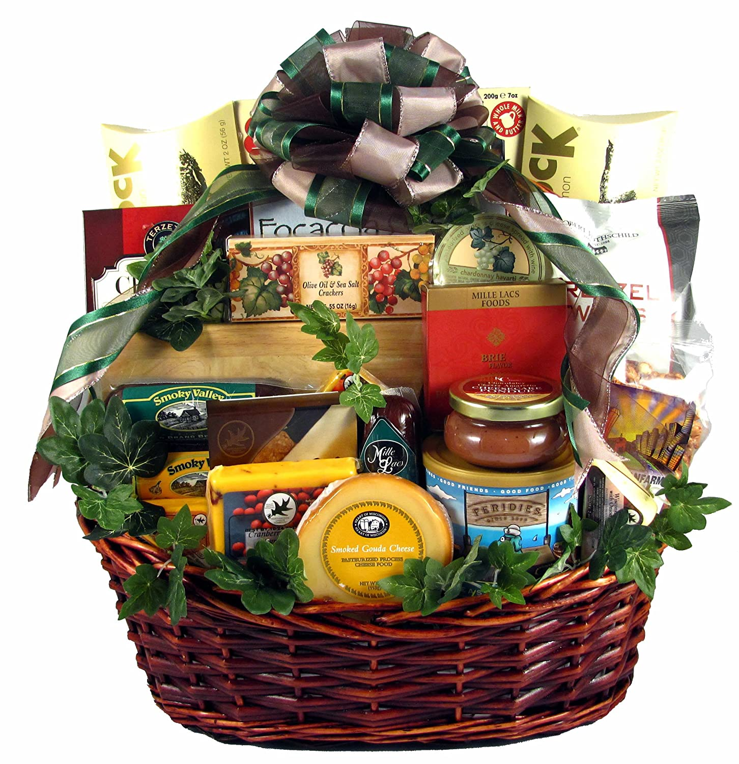 Gift Basket Village Group Therapy, Deluxe Gourmet Gift Basket for Groups with Meats and Cheeses, Smoked Salmon, Cookies, Chocolates and Lots More,,,
