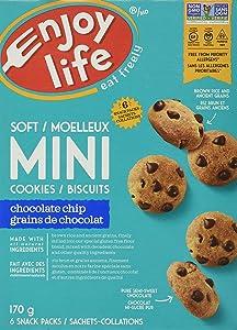 Enjoy Life, Soft Baked Mini Chocolate Chip Cookies, 6 x 1oz Snack Packs, 6 oz