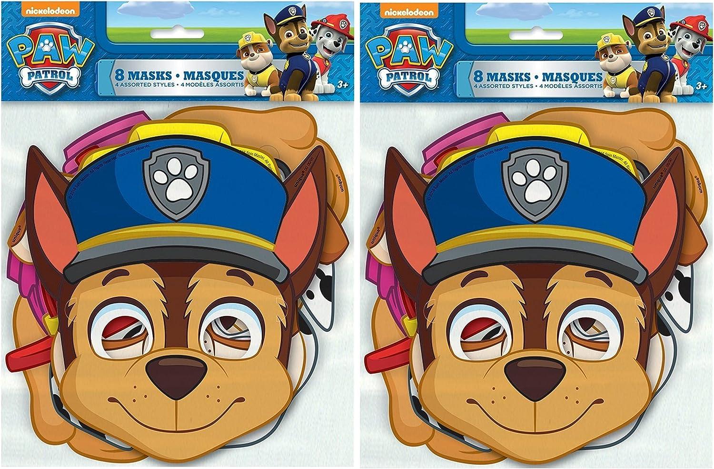 Amazon.com: PAW Patrol - Máscaras para fiesta, 8 ct, 2 ...