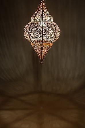 Oriental Lámpara Excelente Iluminación Farola Colgante 50cm Lamparilla Práctica Una Techo Transmite Malha Para De Muy Marroquí Blanco rBedWQoxC