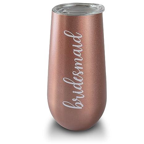 Amazon.com: Copas de champán con tapa de 6 onzas de oro rosa ...