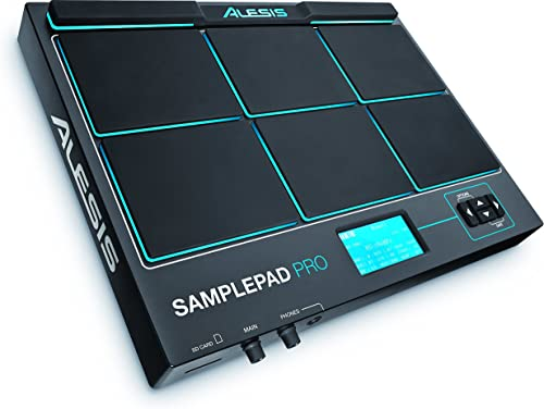 Alesis Sample Pad Pro | Percussion and Sample-Triggering Instrument With Responsive Dual Zone Rubber Pads, Active Blue LED Illumination, Expansion options...