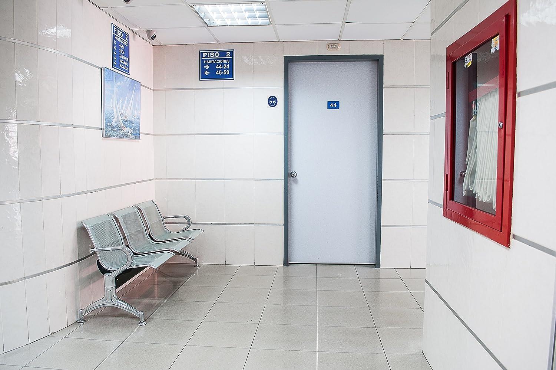 f/ábricas aeropuertos Se/ñal de seguridad laboral Anro Se requiere protecci/ón auditiva 10 x 10 cm Se/ñal de seguridad hecha de PVC Para talleres