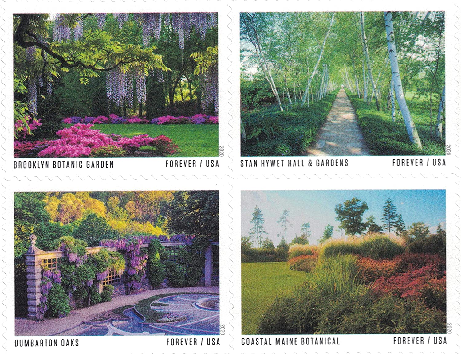 USPS American Gardens Forever Stamps - Sheet of 20 Postage Stamps
